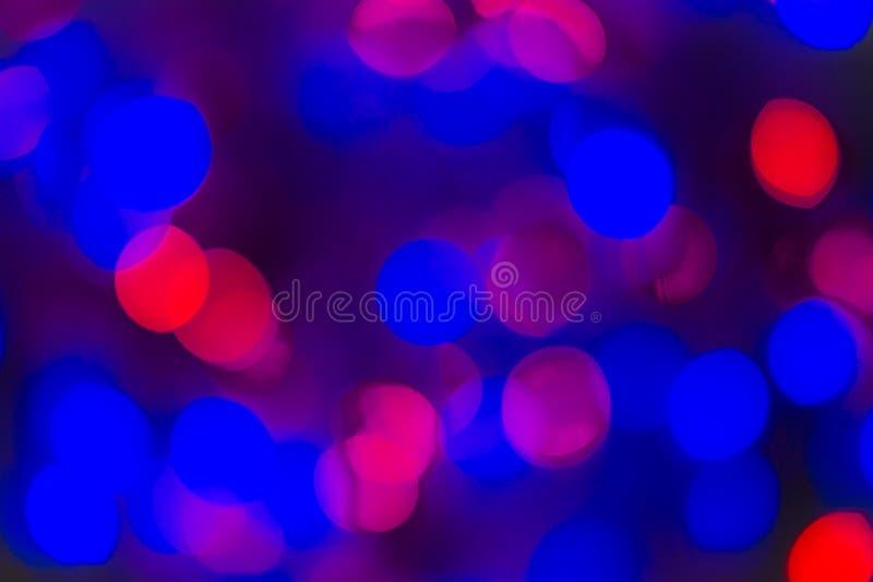 Abstrakt Bokeh textur färgrika blått Defocused bakgrund gjorde suddig ljust ljus royaltyfri bild