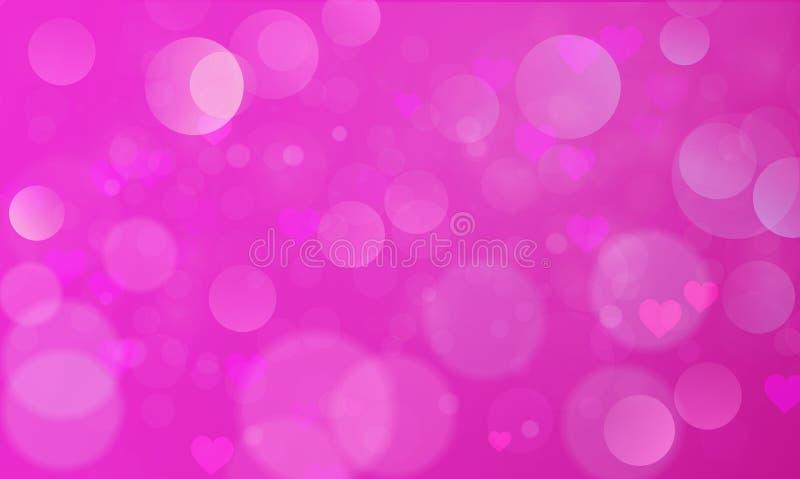 Abstrakt bokehljuseffekt med rosa bakgrund, bokehtextur, bokehbakgrund, vektorillustration stock illustrationer