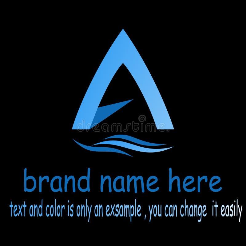 Abstrakt bokstav en logo stock illustrationer