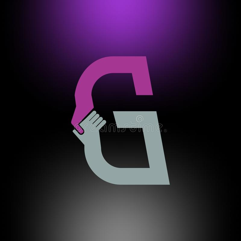 Abstrakt bokstavsG-logo royaltyfri illustrationer