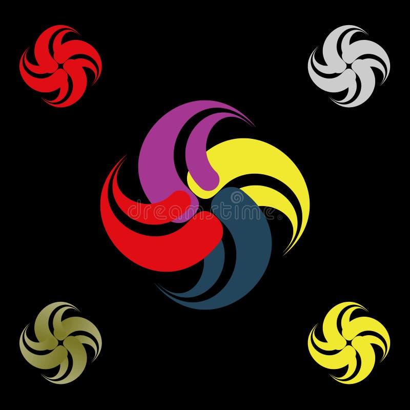 Abstrakt bokstavsw-logo vektor illustrationer