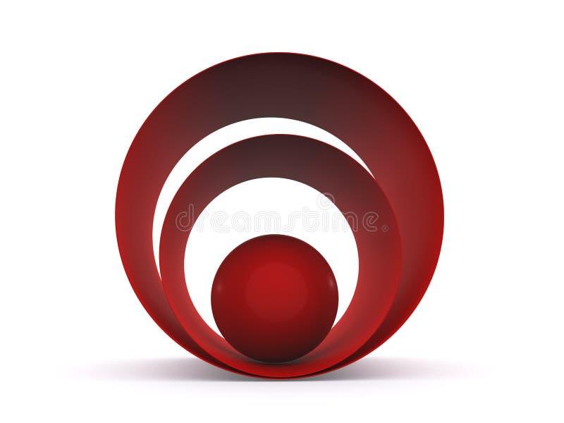 abstrakt boll för bakgrund 3d royaltyfri illustrationer