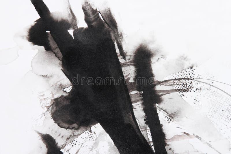 abstrakt borstemålning stock illustrationer