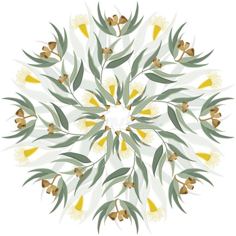 Abstrakt botanisk naturprydnad stock illustrationer