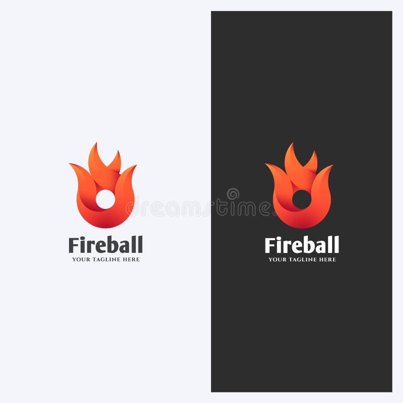 Abstrakt brand, flamma Shape Logo Design Template Tema för företags affär Energi maktbegrepp Enkel och ren stil stock illustrationer