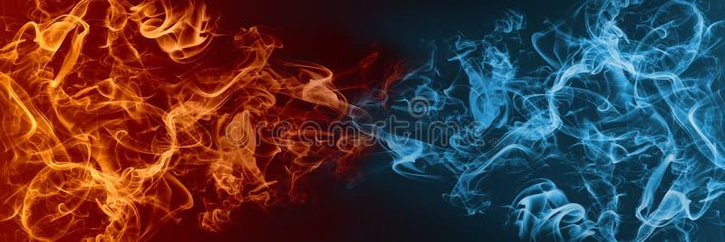 Abstrakt brand- och isbeståndsdel mot vs de bakgrund vektor illustrationer