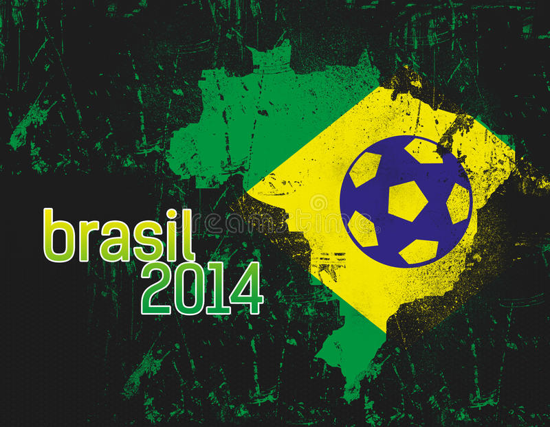 Abstrakt Brasilien landsflagga royaltyfri illustrationer
