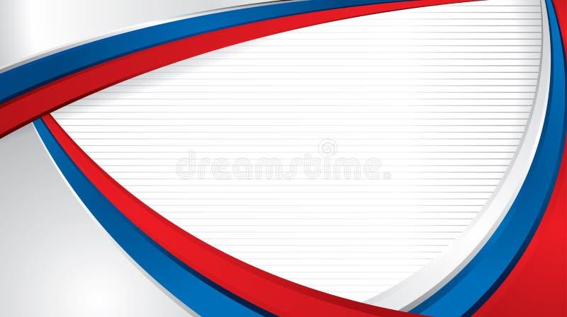 Abstrakt bred formatbakgrund med former med färgerna av flaggan av Ryssland, att använda som diplomet eller certifikat royaltyfri illustrationer