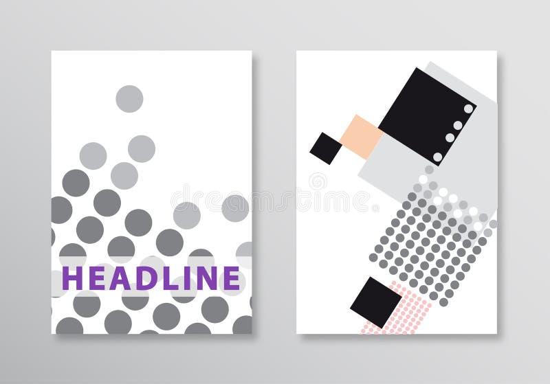 abstrakt broschyrmall EPS 10 Plan stil Det kan vara nödvändigt för kapacitet av designarbete stock illustrationer