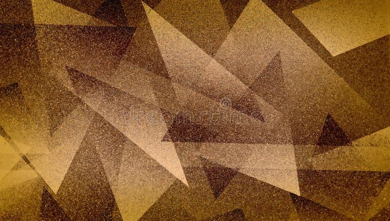 Abstrakt brun bakgrund skuggade randig modell och kvarter i diagonala linjer med blå brun textur för tappning arkivfoton