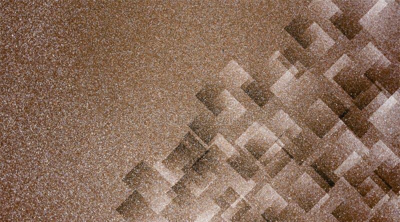 Abstrakt brun bakgrund skuggade randig modell och kvarter i diagonala linjer med brun textur för tappning royaltyfri fotografi