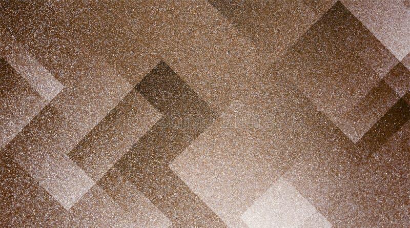 Abstrakt brun bakgrund skuggade randig modell och kvarter i diagonala linjer med brun textur för tappning royaltyfria foton