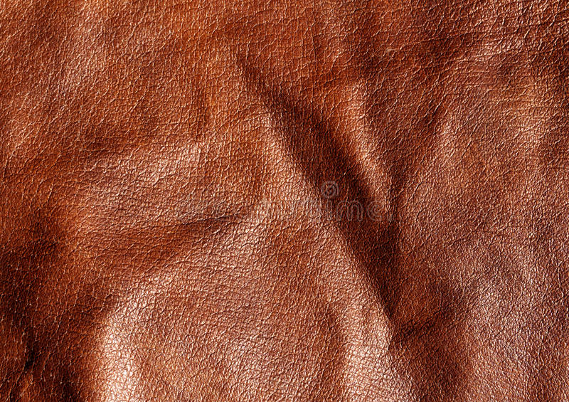Abstrakt brun lädertextur royaltyfria foton