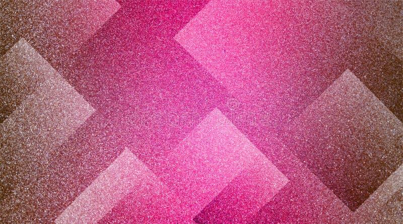 Abstrakt brunt till den rosa bakgrund skuggade randiga modellen och kvarter i diagonala linjer med brun textur för tappning royaltyfria foton