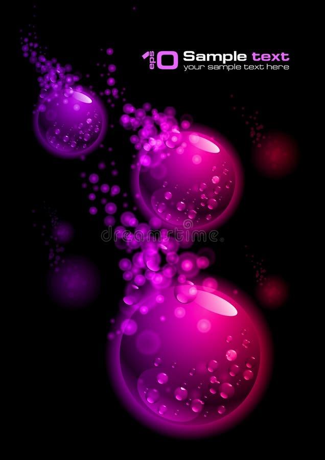 abstrakt bubbladesignvektor royaltyfri illustrationer