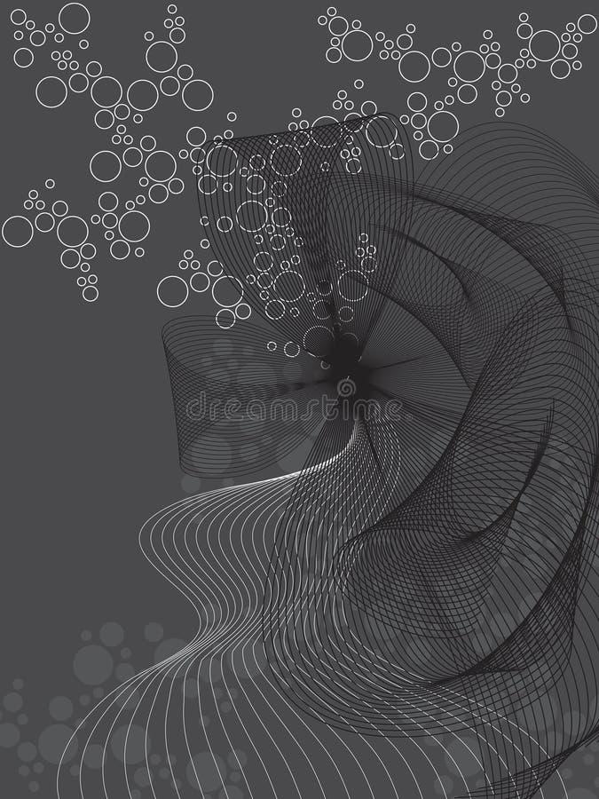 abstrakt bubblatwist royaltyfri illustrationer
