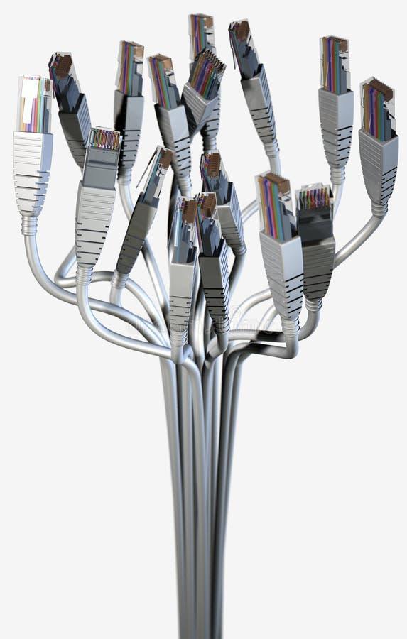 Abstrakt bukett för Ethernet royaltyfri illustrationer