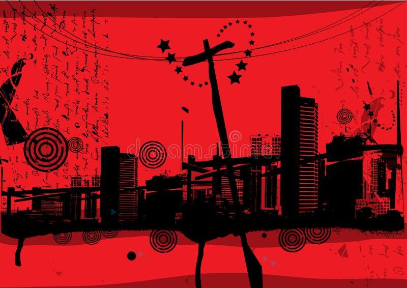 abstrakt byggnad stock illustrationer