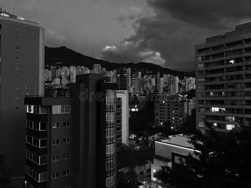 Abstrakt byggnader arkivfoton