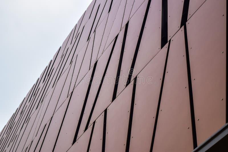 Abstrakt byggnadsbakgrund av Los Angeles Beverly Hills modern kontorsbyggnad royaltyfria bilder
