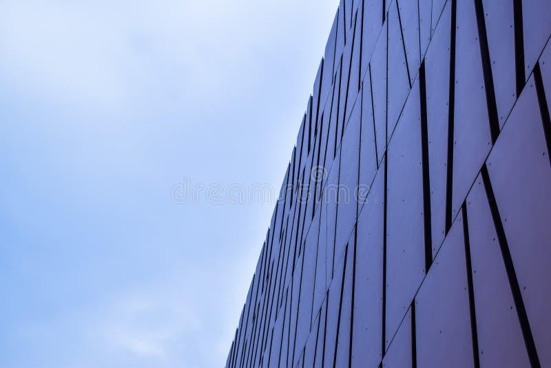 Abstrakt byggnadsbakgrund av Los Angeles Beverly Hills modern kontorsbyggnad royaltyfri fotografi