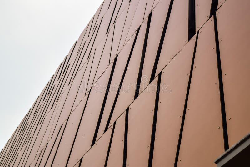 Abstrakt byggnadsbakgrund av Los Angeles Beverly Hills modern kontorsbyggnad royaltyfria foton