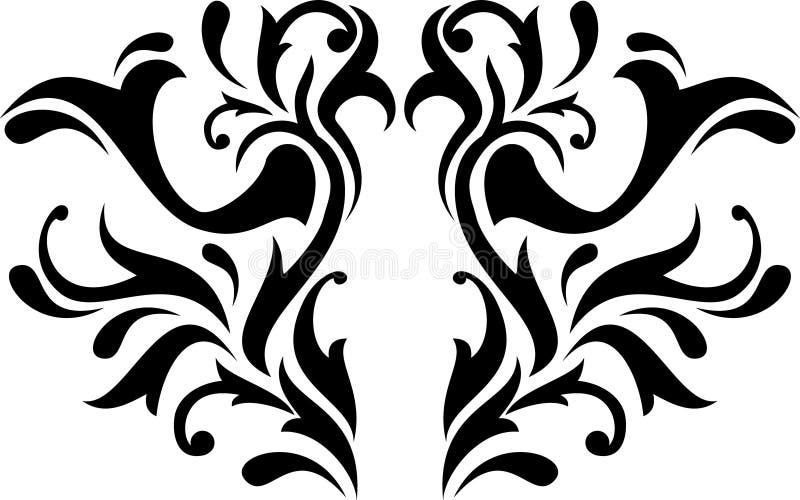 Abstrakt calligraphy royaltyfri illustrationer