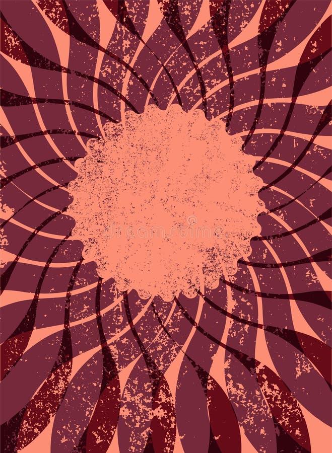Abstrakt centrifugal grungebakgrund för din text retro vektor för illustration 10 eps stock illustrationer