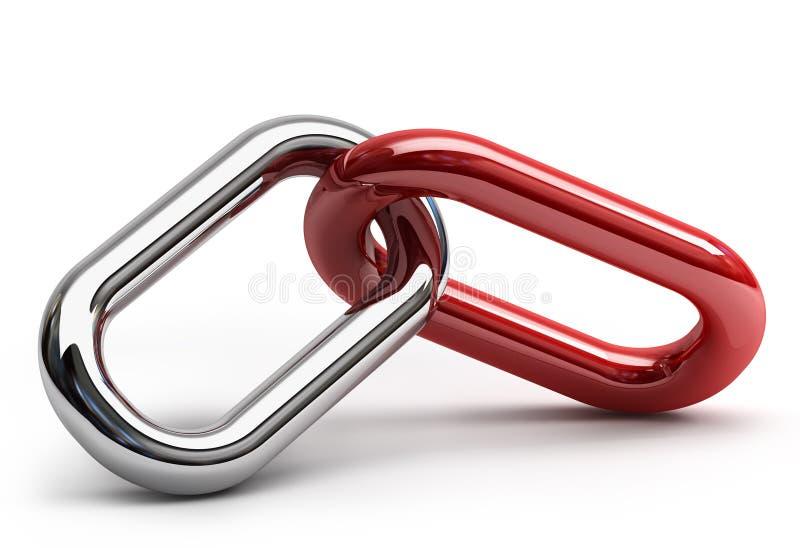 abstrakt chain red royaltyfri illustrationer