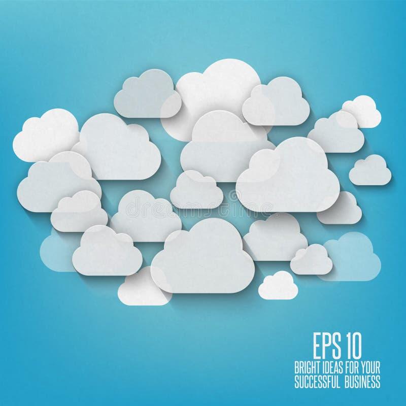 Abstrakt chmury royalty ilustracja