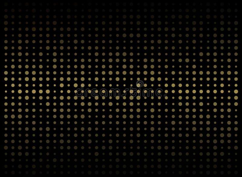 Abstrakt ciemny tło na złocistego okręgu kształta przypadkowym wielkościowym klepnięciu royalty ilustracja