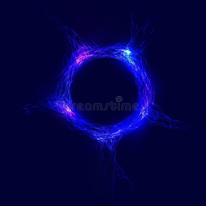 abstrakt cirkel av invecklade linjer med glöd arkivbild