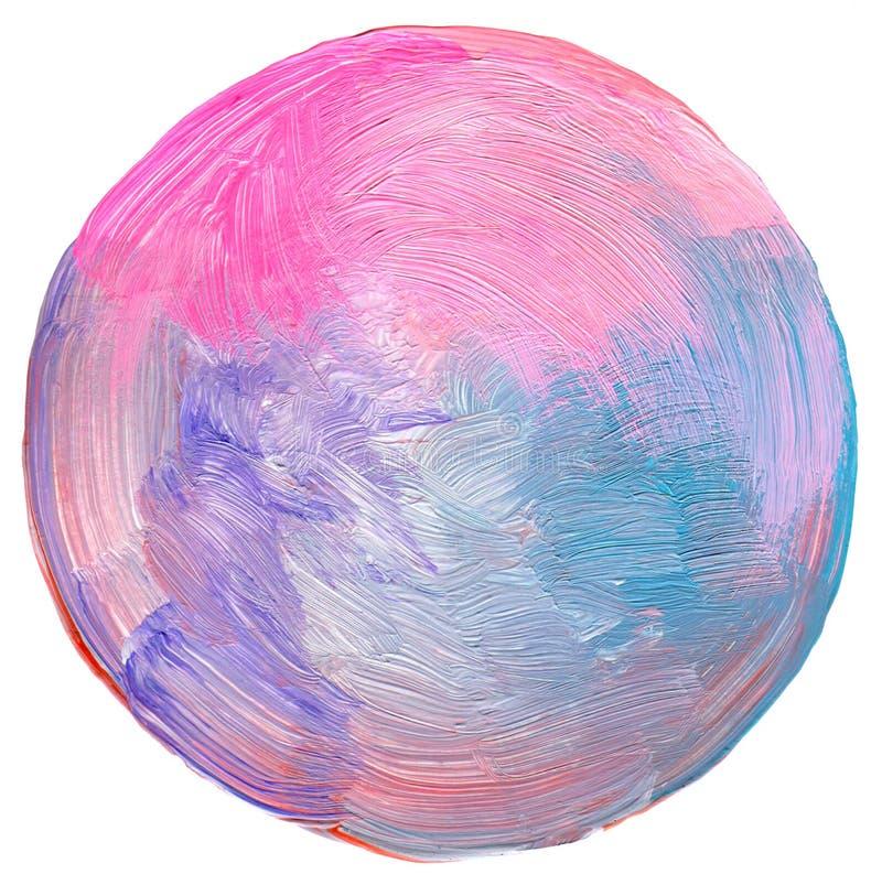 Abstrakt cirkelakryl och målad bakgrund royaltyfri illustrationer