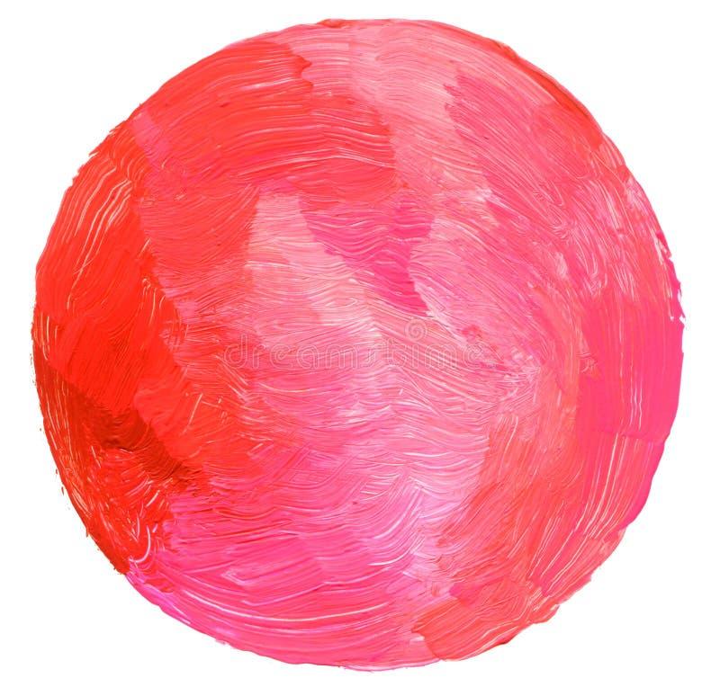 Abstrakt cirkelakryl och vattenfärg målad bakgrund arkivfoto
