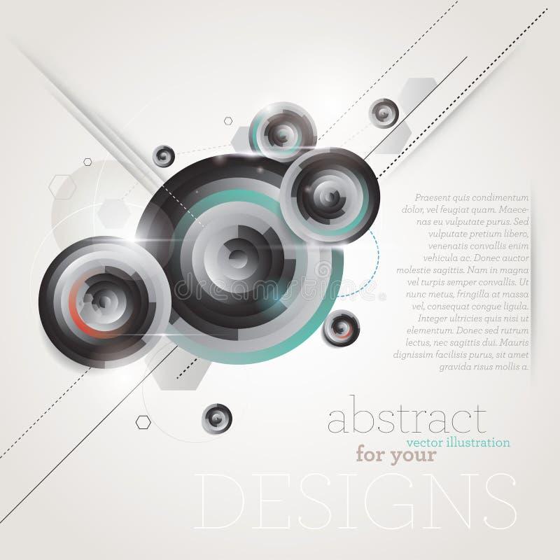 Abstrakt cirkelbakgrund royaltyfri illustrationer