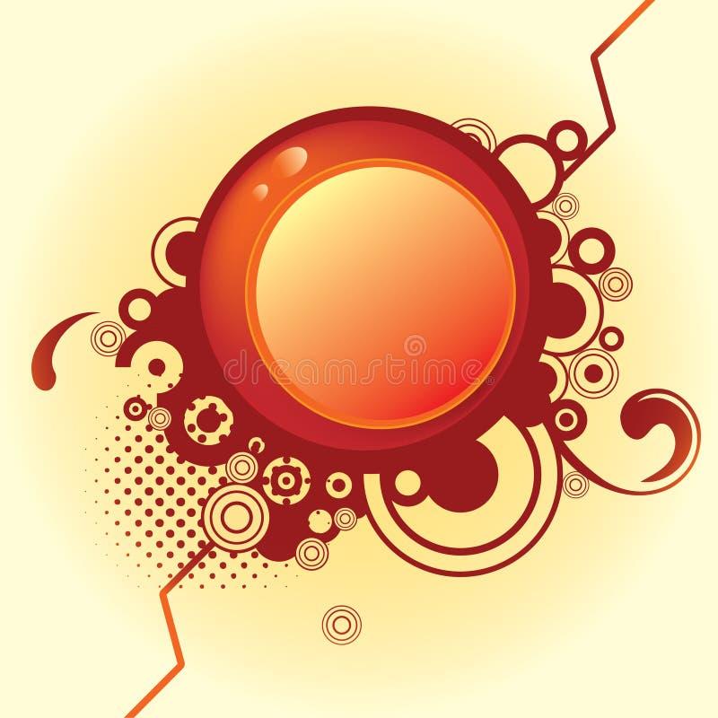 abstrakt cirkeldesign royaltyfri illustrationer