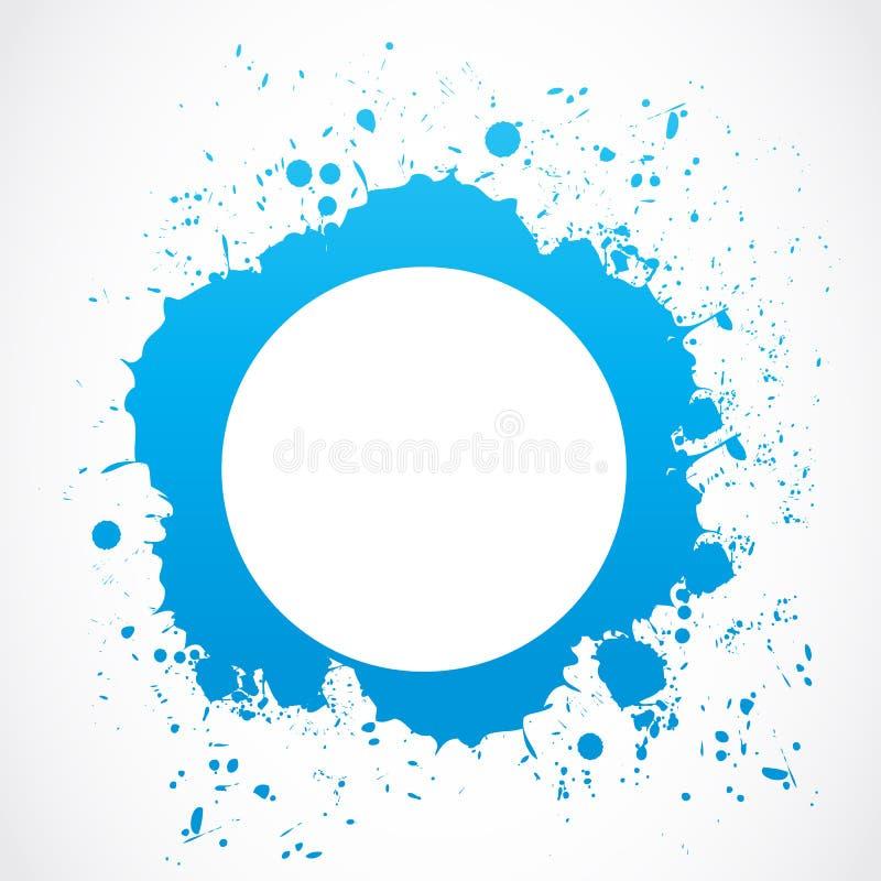 Abstrakt cirkelfärgstänkgräns stock illustrationer