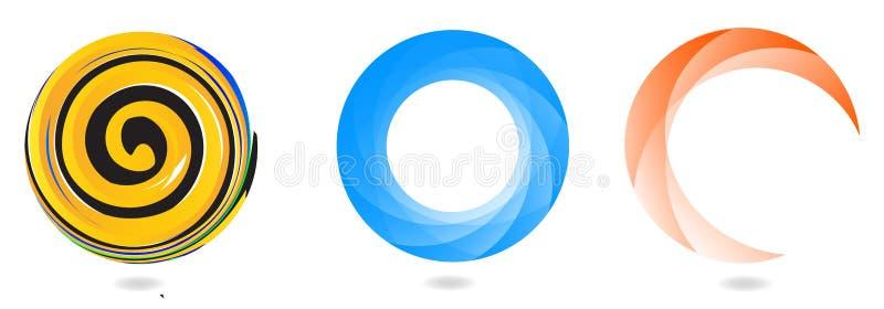 Abstrakt cirkellogo vektor illustrationer