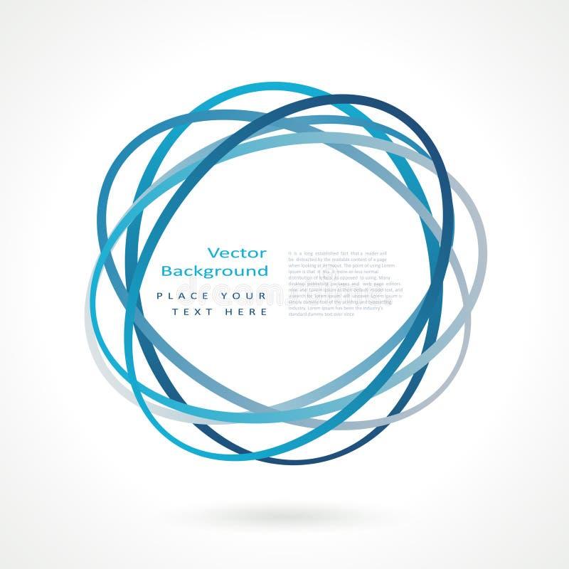 abstrakt cirkelram vektor illustrationer