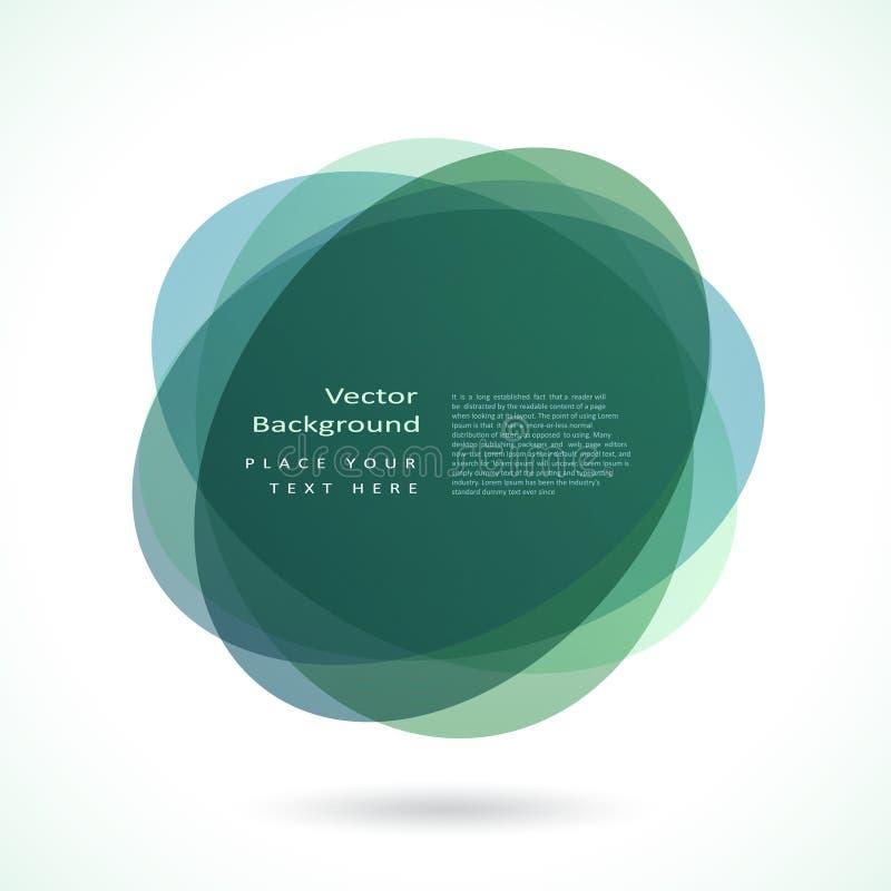 abstrakt cirkelram royaltyfri illustrationer