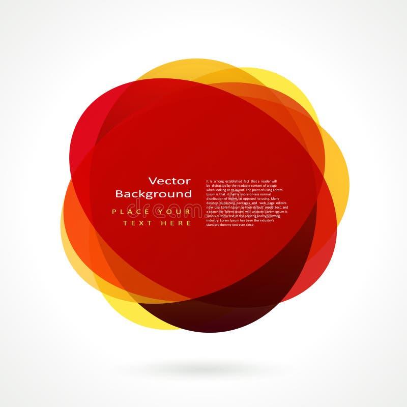 abstrakt cirkelram stock illustrationer