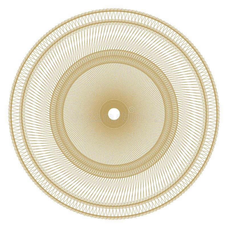 Abstrakt cirkulär, spiral beståndsdel royaltyfri illustrationer