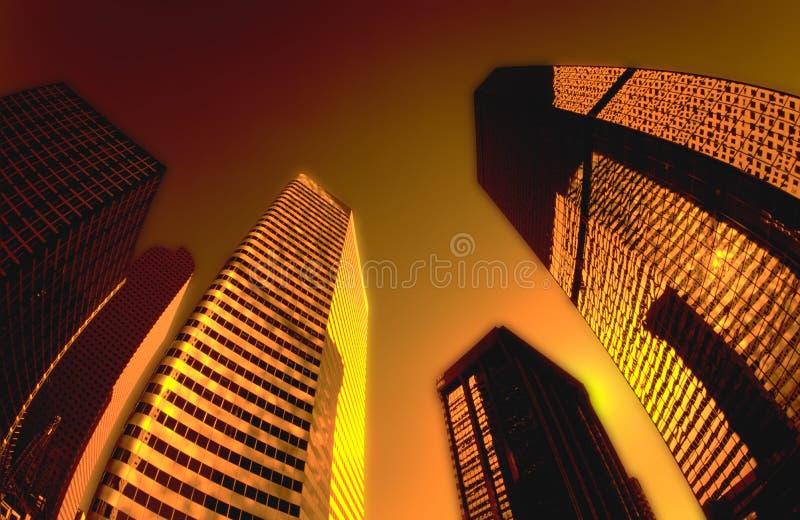 ABSTRAKT CITYSCAPEDESIGNBAKGRUND royaltyfri foto