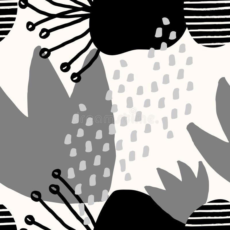 Abstrakt collagemodell vektor illustrationer