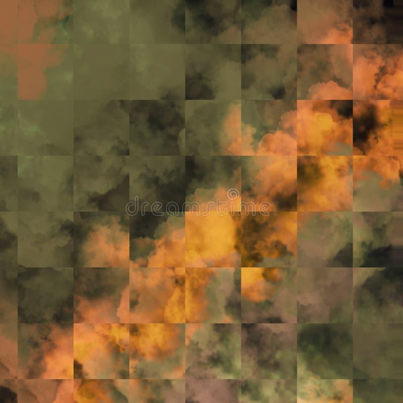 Abstrakt collagetemabakgrund Texturerad bakgrund för foto ram stock illustrationer