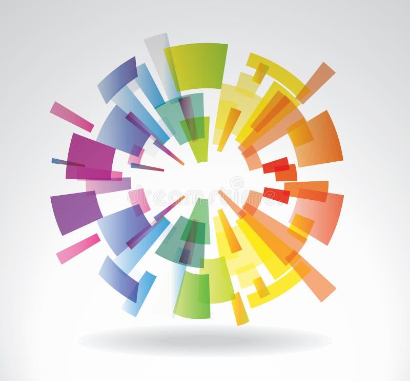 Abstrakt colorfullsfär royaltyfri illustrationer