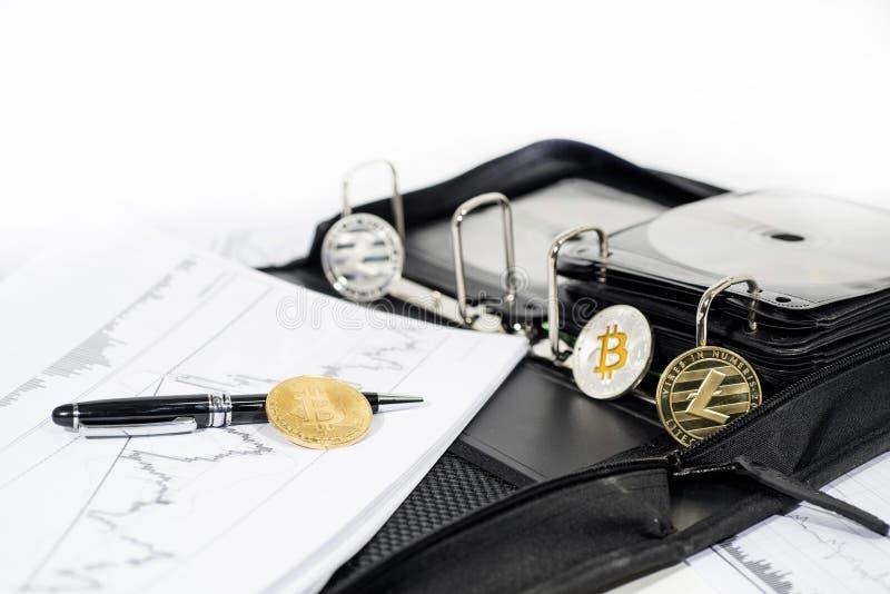 Abstrakt cryptocurrencyfoto arkivbild