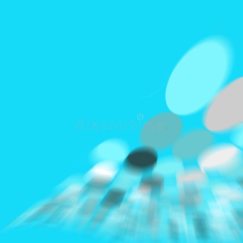 Abstrakt Cyan Fläck Arkivfoto