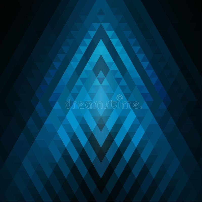 Abstrakt cyan och blå geometrisk bakgrund av trianglar Färgrik mosaik av symmetriska former Mjuka färgsignaler och lutningar G vektor illustrationer