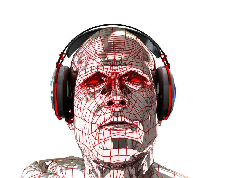 abstrakt cyberhuvud vektor illustrationer